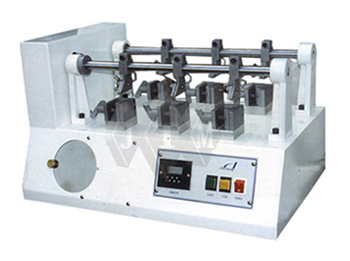 leather testing machine, leather testing equipment, footwear testing equipments, footwear testing, leather test, shoe testing machine